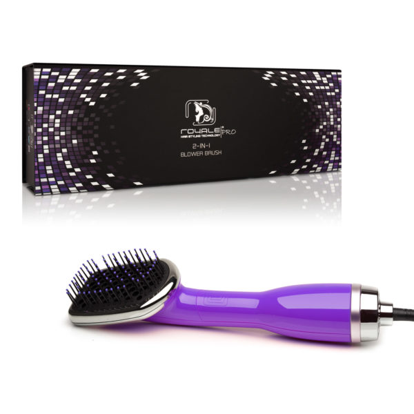 3in1 Blower Brush Hair Dryer Purple Royale Hair Styling